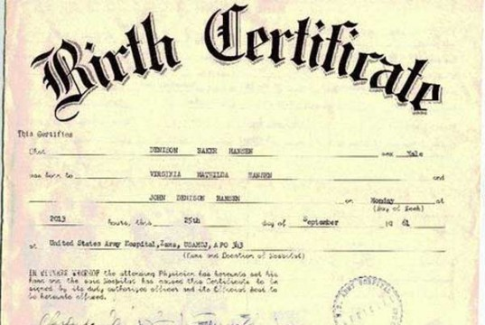 Applying for Birth Certificate Online