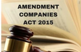 Amendment Companies Act, 2015