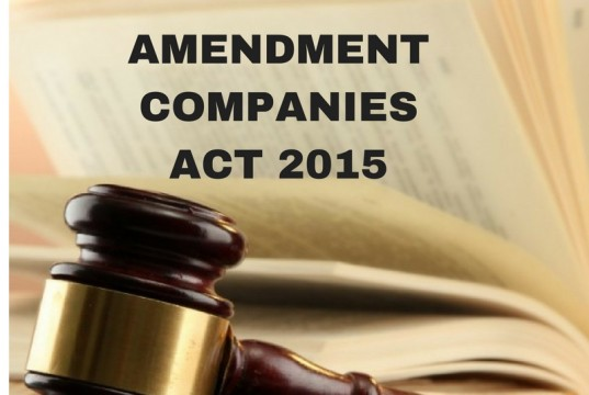 Amendment Companies Act, 2015