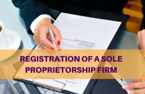SOLE PROPRIETORSHIP FIRM