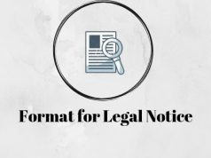 Format for Legal Notice