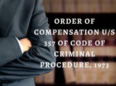 ORDER OF COMPENSATION US 357 OF CODE OF CRIMINAL PROCEDURE, 1973