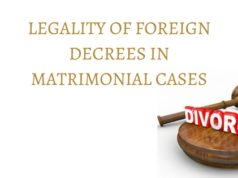 LEGALITY OF FOREIGN DECREES IN MATRIMONIAL CASES (1)