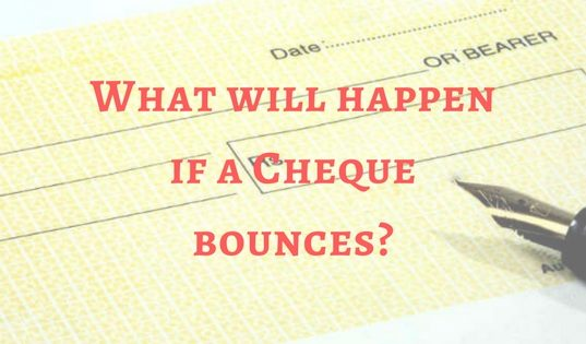 What will happen if a Cheque bounces_