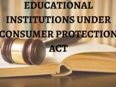 EDUCATIONAL INSTITUTIONS UNDER CONSUMER PROTECTION ACT