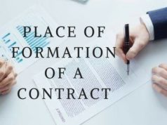 PLACE OF FORMATION OF A CONTRACT