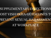 SUPPLEMENTARY DIRECTIONS POST VISHAKHA GUIDELINES TO PREVENT SEXUAL HARASSMENT AT WORKPLACE