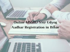 How to get Online MSME/ SSI/ Udyog Aadhar Registration in Bihar
