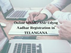 How to get Online MSME/ SSI/ Udyog Aadhar Registration in Telangana