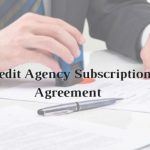 Model Format of Credit Agency Subscription Agreement