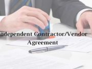 Model Format for Independent Contractor/Vendor Agreement