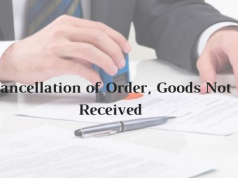 Model Format of Cancellation of Order, Goods Not Received