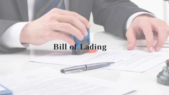 Model Format of Bill of Lading
