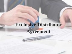 Model Format of Exclusive Distributor Agreement