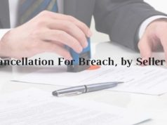 Model Format of Cancellation For Breach, by Seller