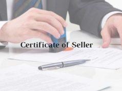 Model Format of Certificate of Seller