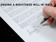 Challenging a registered will in India