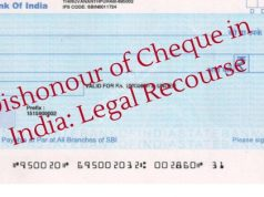 Dishonour of Cheque in India; Legal Recourse