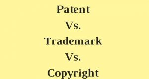 Patent Vs. Trademark Vs. Copyright