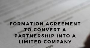 Formation Agreement To Convert A Partnership Into A Limited Company