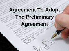Agreement To Adopt The Preliminary Agreement