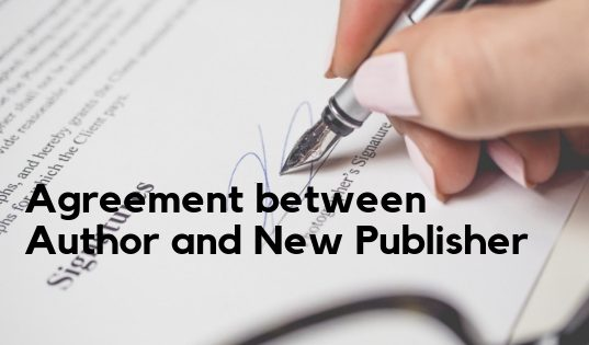 Agreement between Author and New Publisher
