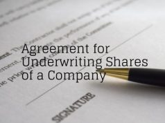 _Agreement for Underwriting Shares of a Company