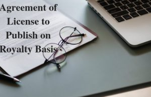 Agreement of License to Publish on Royalty Basis