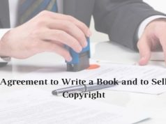 Agreement to Write a Book and to Sell Copyright