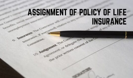 Assignment Of Policy Of Life Insurance