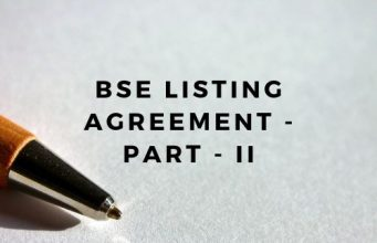 BSE Listing Agreement - Part - II