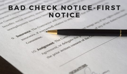 Check Notice-First Notice