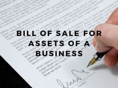 Bill of Sale for Assets of a Business