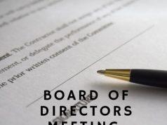 Board of Directors Meeting, Agenda