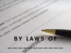 By Laws of ____________________ (Corporation)