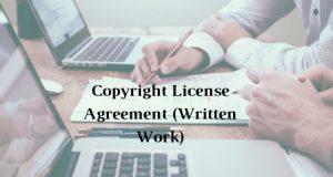 Copyright License Agreement (Written Work)