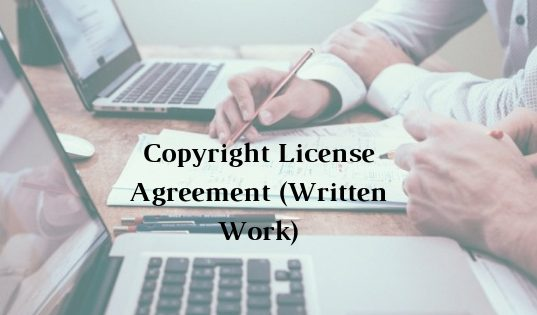 Copyright License Agreement (Written Work)