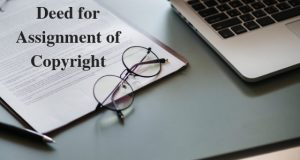 Deed for Assignment of Copyright