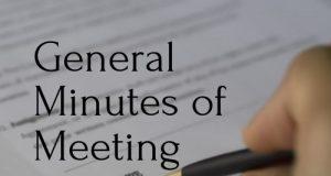 General Minutes of Meeting