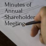 Minutes of Annual Shareholder Meeting