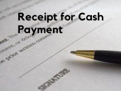 Receipt for Cash Payment