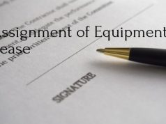 Assignment of Equipment Lease