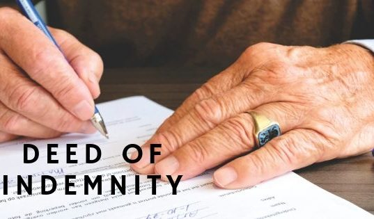 Deed of Indemnity