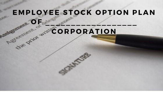 Employee Stock Option Plan of __________________ Corporation
