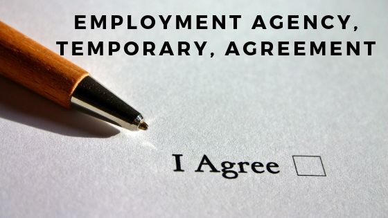 Employment Agency, Temporary, Agreement
