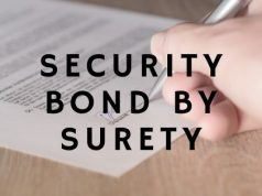 Security Bond by Surety