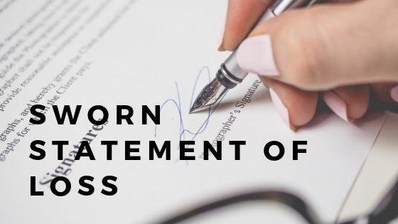 Sworn Statement of Loss