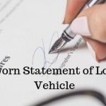 Sworn Statement of Loss, Vehicle