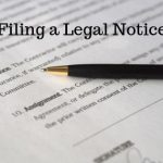 Filing a Legal Notice