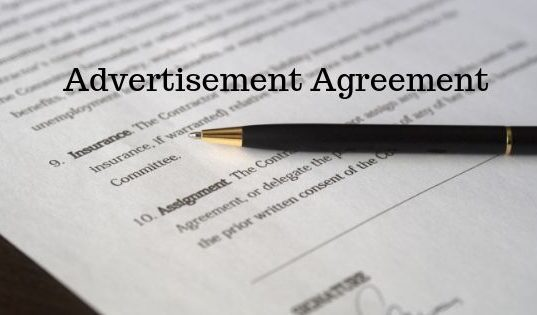 Advertisement Agreement